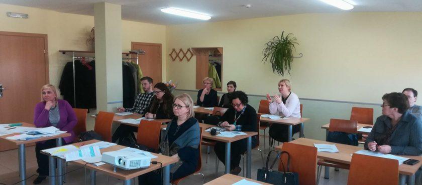 """Kovo 23 d. vyko mokymai """"Vietos plėtros strategijai įgyvendinti skirtų projektų rengimas"""" potencialiems pareiškėjams"""