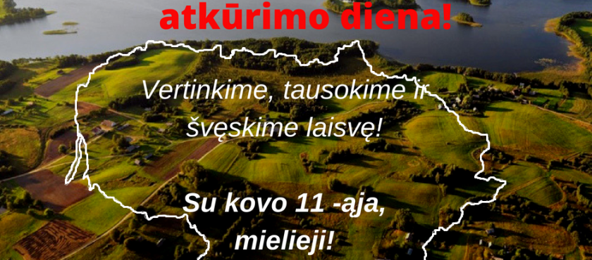 Panevėžio vietos veiklos grupės pirmininkės S. Jakštienės sveikinimas Lietuvos nepriklausomybės atkūrimo proga